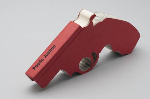 Book Sculptures Gun