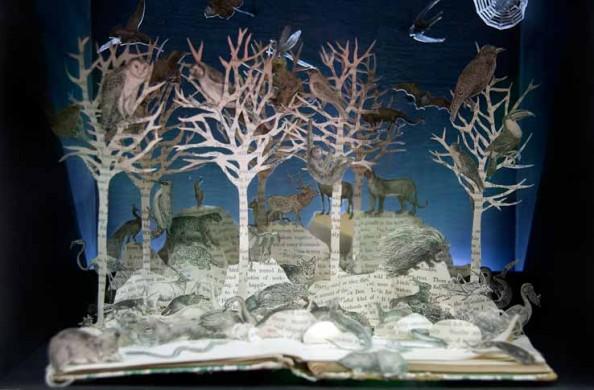 Book Sculptures Su BlackWell 1