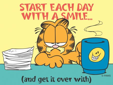 Tips for a better morning Garfield smile