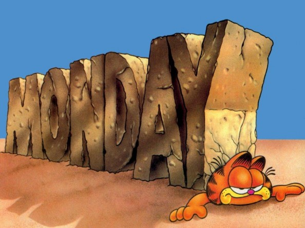 Tips for a better morning Garfield monday