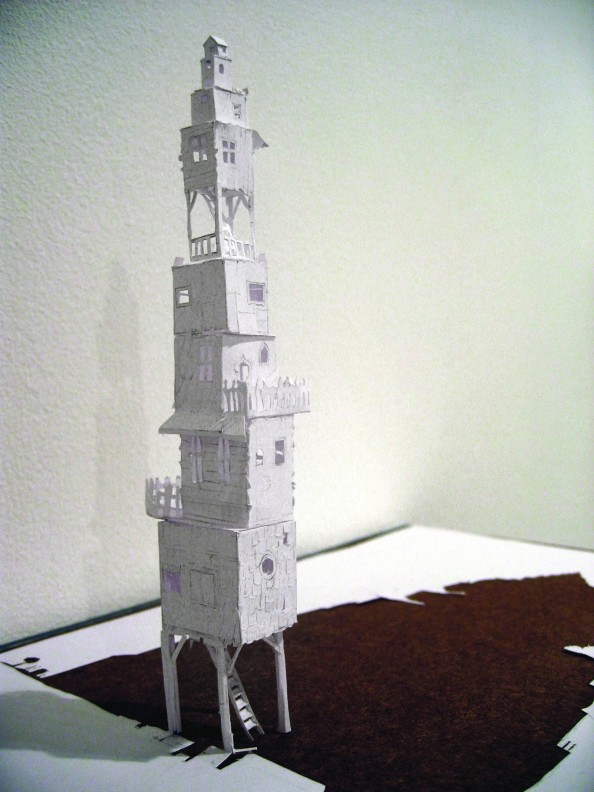 Petter Callesen Paper Art Tower of Babel