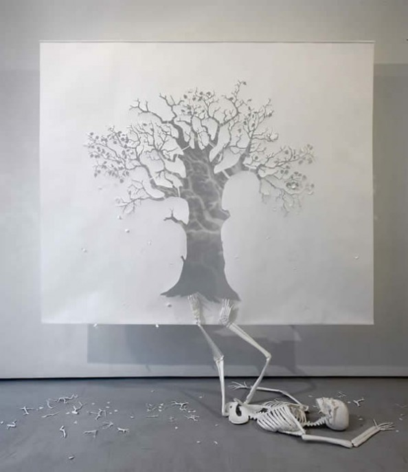 Petter Callesen Paper Art The Fall Adam Rei