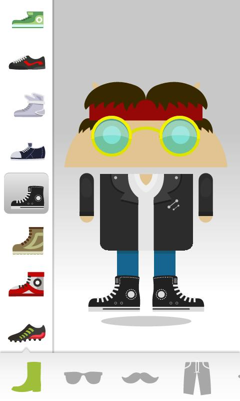 Androidify interface