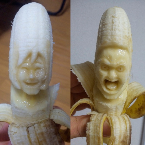 Creepy Banana Sculptures - Yamaden