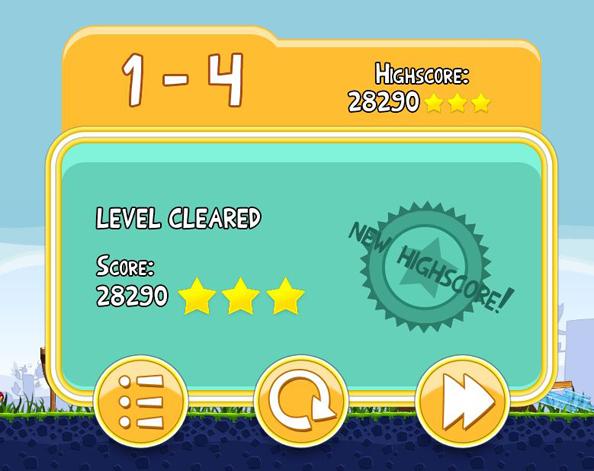 Angry Birds Desktop High Score