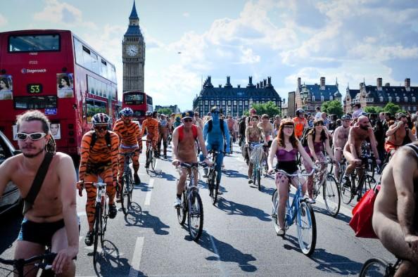UK World Naked Bike Ride June 2011 1