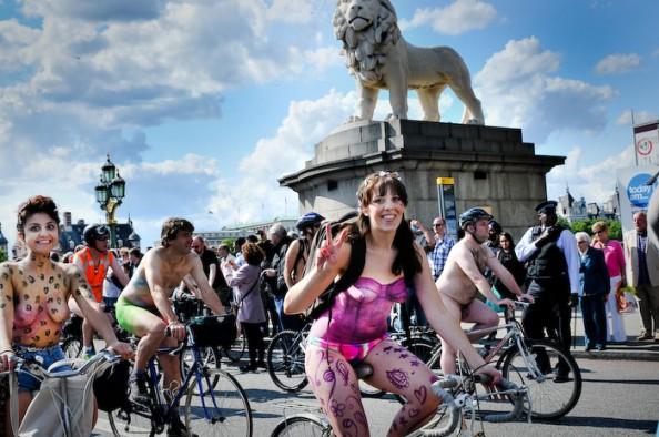 UK World Naked Bike Ride June 2011 2