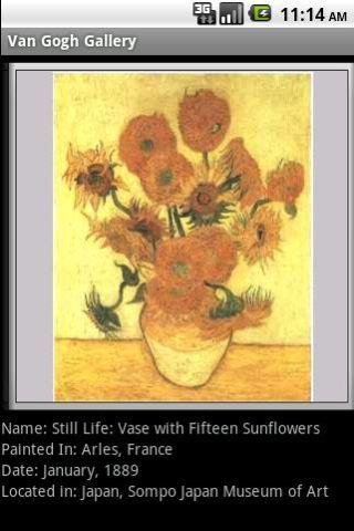 Van Gogh Gallery Android App Painting Details