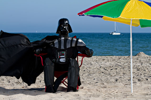 Darth Vader beach umbrella