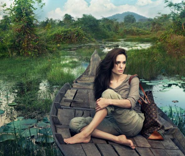 Angelina Jolie Journey to Cambodia for Louis Vuitton