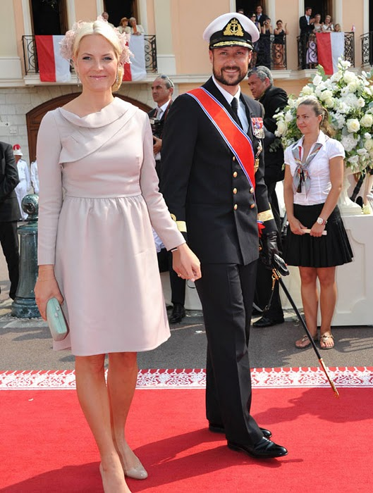 Crown Princess Victoria of Sweden and Crown Princess Mette Marit of Norway at Monaco Royal Wedding