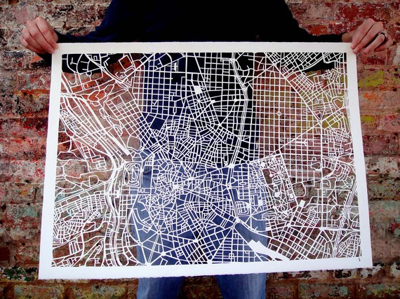 Cut-out Street Map Of Madrid