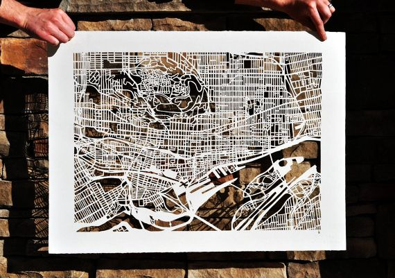 Cut-out Street Map Of Montreal