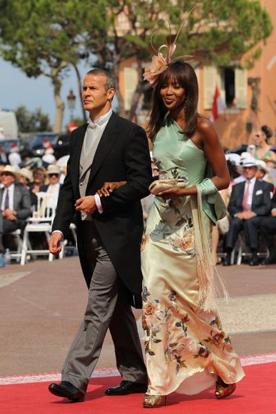 Monaco Royal Wedding Naomi Campbell Alexander McQueen and Givenchy dresses