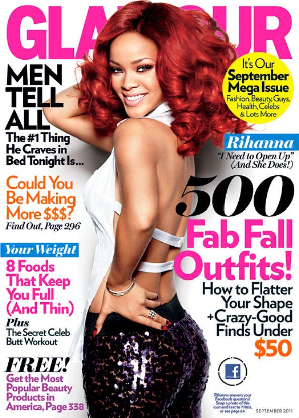 Rihanna covers Glamour September 2011