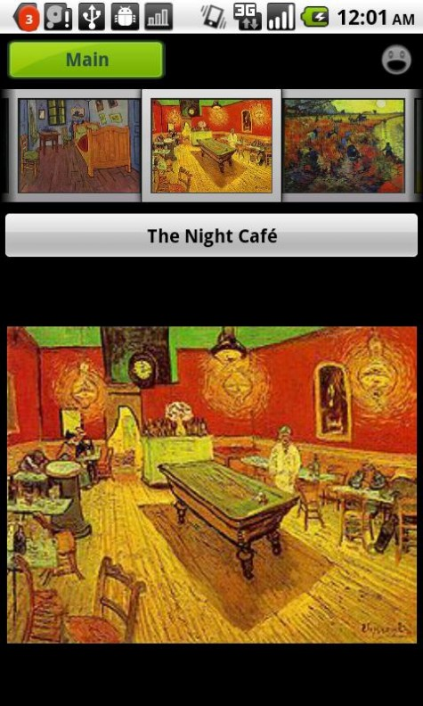 Van Gogh Gallery and Puzzle Main Navigation