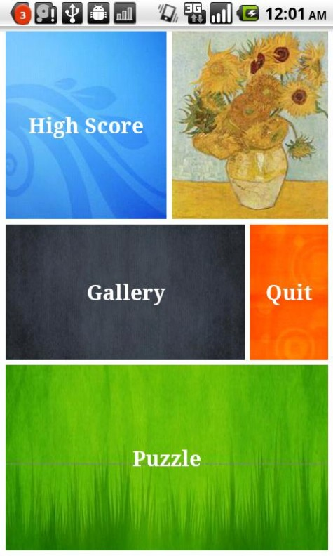 Van Gogh Gallery and Puzzle Android App