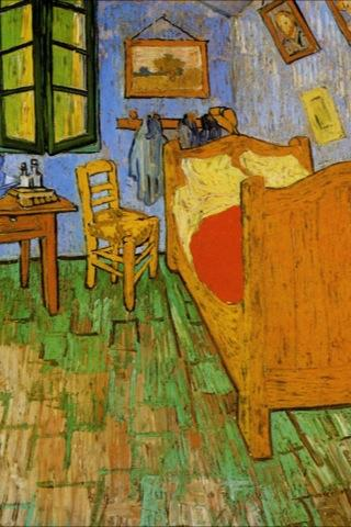 Van Gogh's Room in the Yellow House from Arles Wallpaper