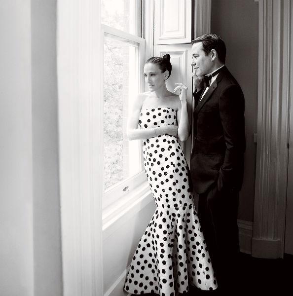 Sarah Jessica Parker for Vogue US August 2011 Wearing Oscar de la Renta