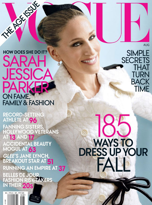 Sarah Jessica Parker on the cover of Vogue US August 2011