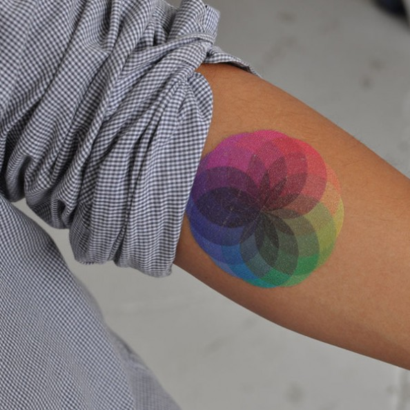 temporary tatoo colour burst hand