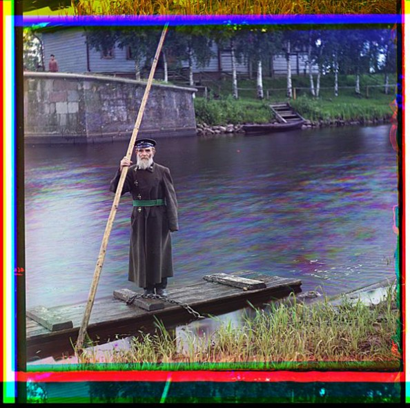 100 Years Old Color Photos of the Russian Empire Mariinskii Canal