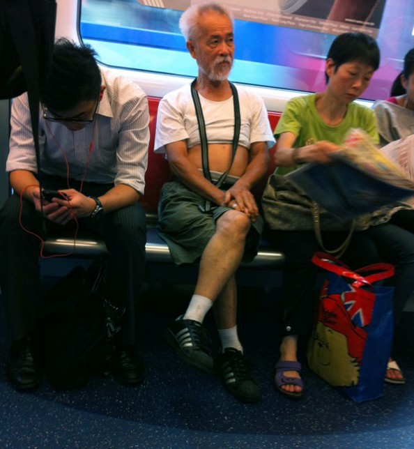 Accidental Chinese Hipsters in the Subway