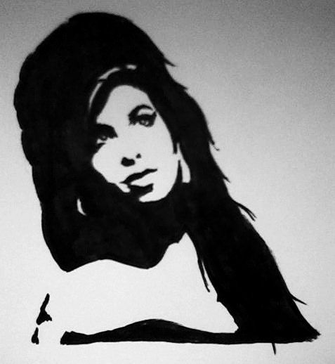 Amy Winehouse Fan Art Portrait Marker