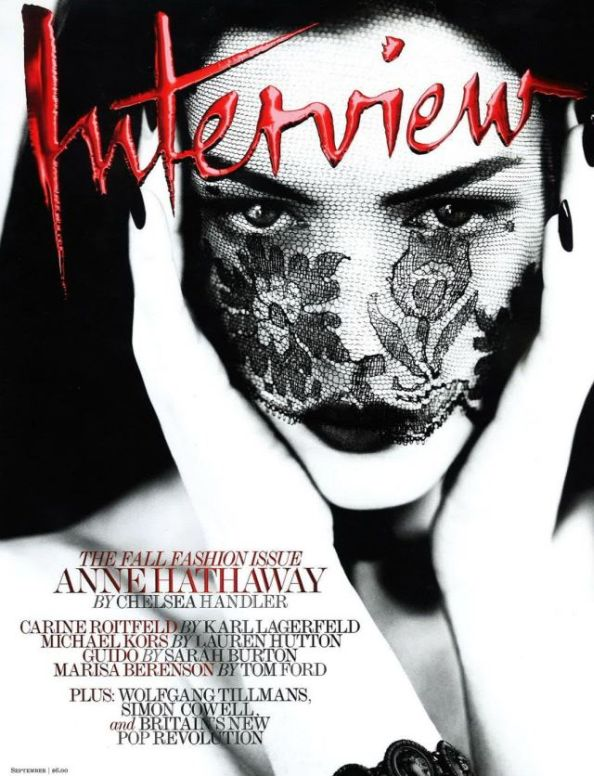 Anne Hathaway Cover Interview Magazine