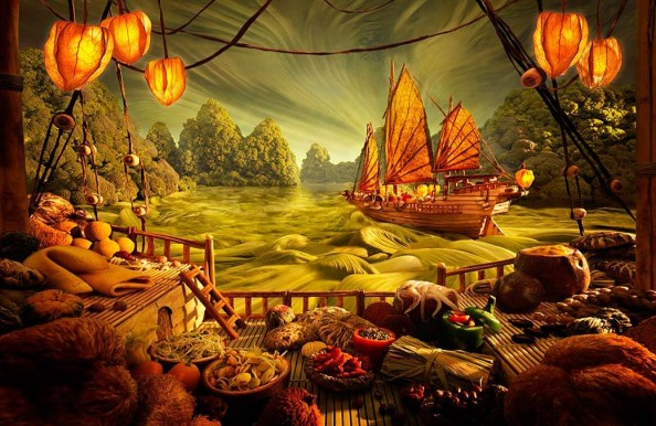 Food Landscapes Chinese Theme by Carl Warner