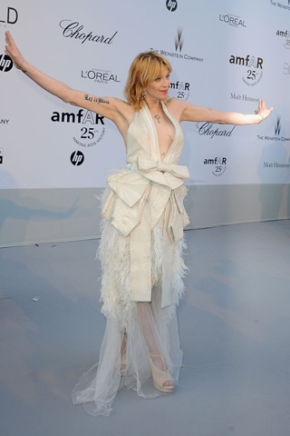 Courtney Love amfAR Cinema Against aids Cannes 2011