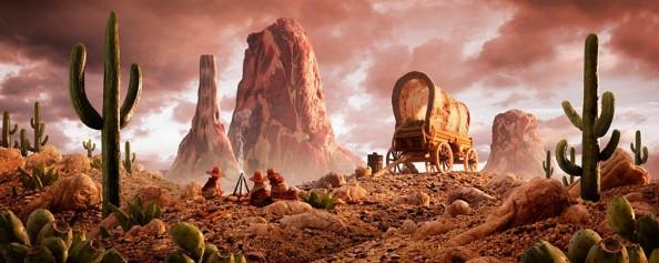 Food Landscapes Cowboy Valley by Carl Warner