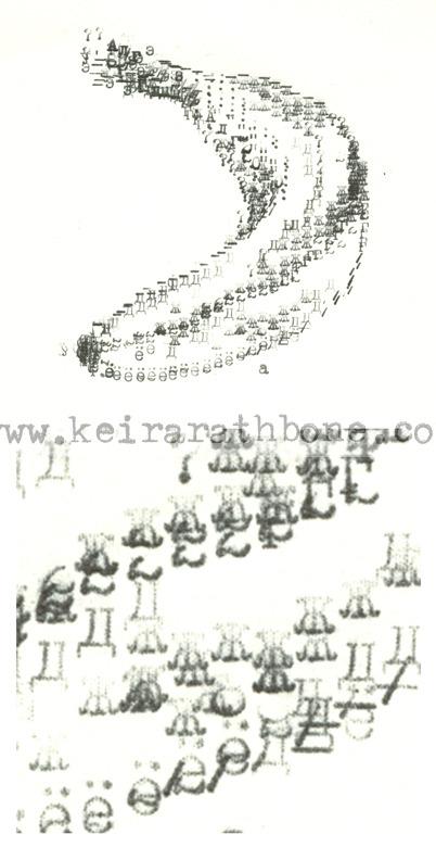 Cyrillic Banana with Detail Typewritten by  Keira Rathbone