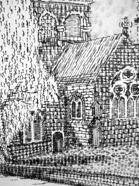 Detail from Wimborne Minster Typewritten by Keira Rathbone