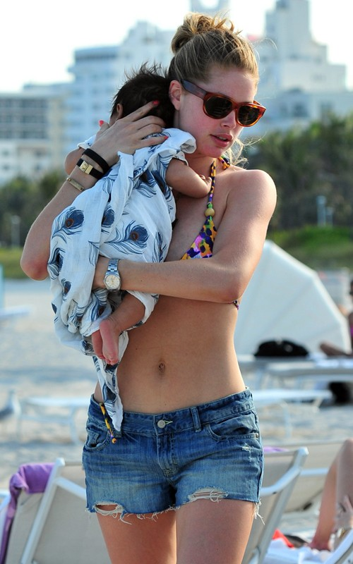 Doutzen Kroes and Baby Phyllon