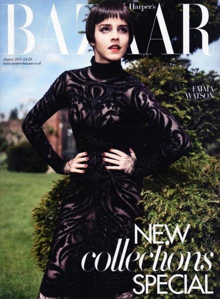 Emma Watson Harper's Bazaar UK August 2011 Cover 1