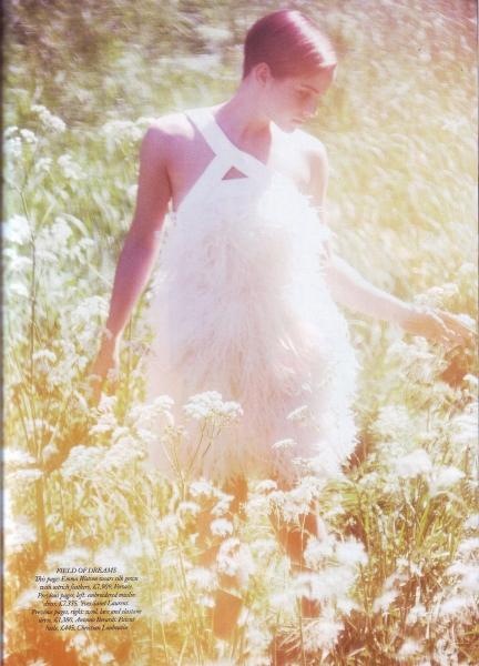 Emma Watson Harper's Bazaar UK August 2011 Cover 2