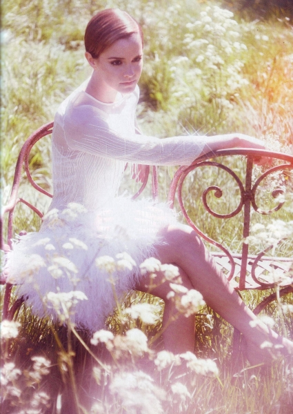 Emma Watson Harper's Bazaar UK August 2011 Cover 4
