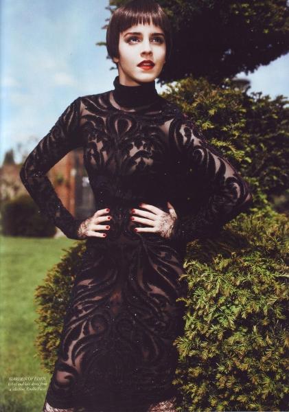Emma Watson Harper's Bazaar UK August 2011 Cover 6