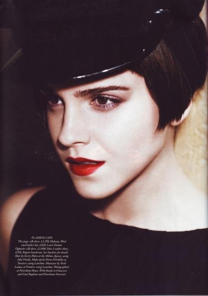Emma Watson Harper's Bazaar UK August 2011 Cover 8