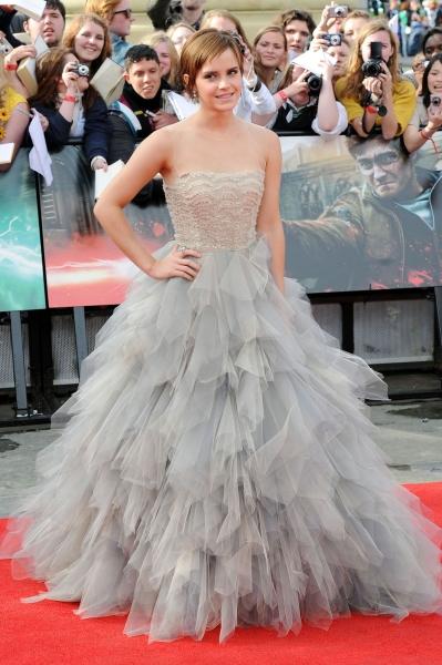 Emma Watson Wearing Oscar de la Renta at the Deathly Hallows Premiere