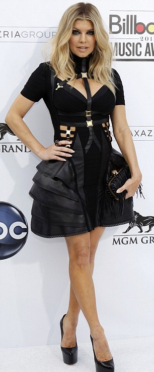 Fergie wears Hervé Léger by Max Azria at Billboard Awards 2011