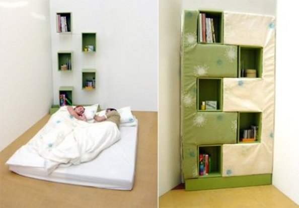 Interior Design Ideas Folding Bed Bookcase