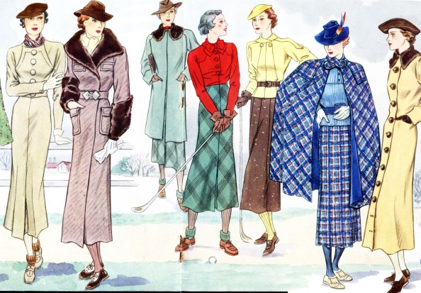 French Women Fashion Clothes in the 30s