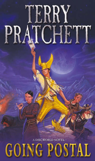 Terry Pratchett Going Postal Book Cover