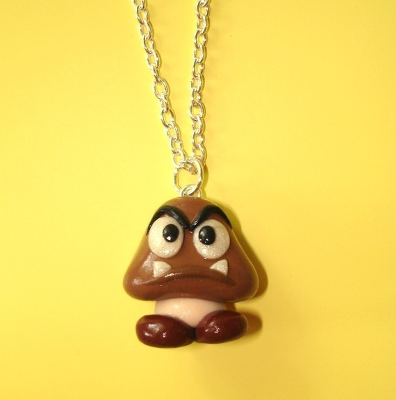 Goomba Necklace Attached