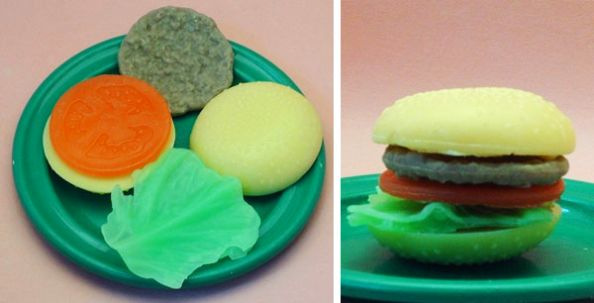 Realistic Hamburger Soap Bar