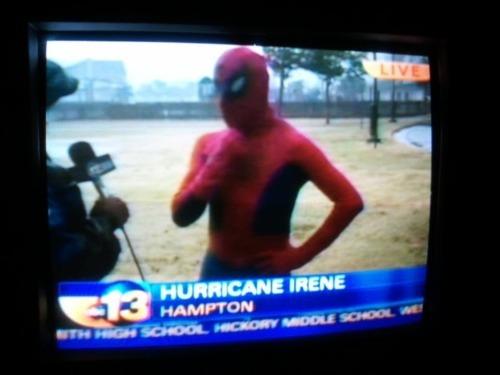 Hurricane Irene Serious News Spiderman