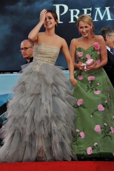 J.K. Rowling Wearing Oscar de la Renta at the Deathly Hallows Premiere