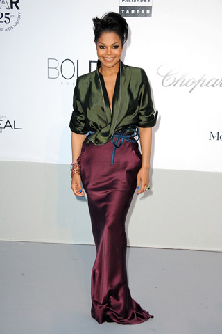 Janet Jackson amfAR Cinema Against aids Cannes 2011